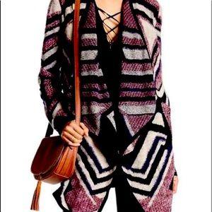 Lucky Brand Intarsia knit cardigan